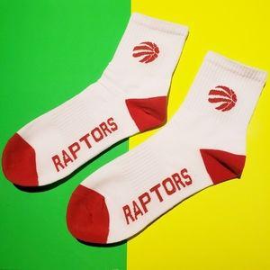 2/$20 NBA Toronto Raptors basketball team socks